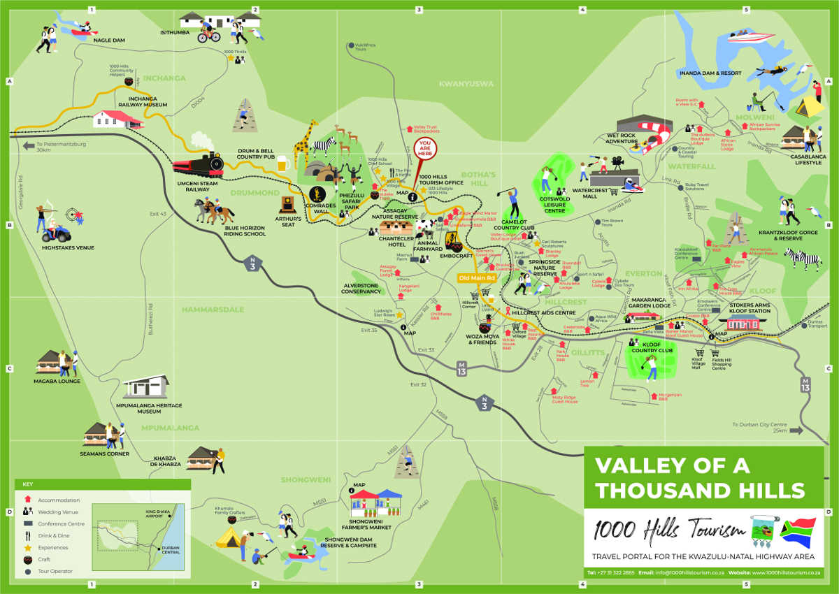 The Valley of a 1000 Hills map